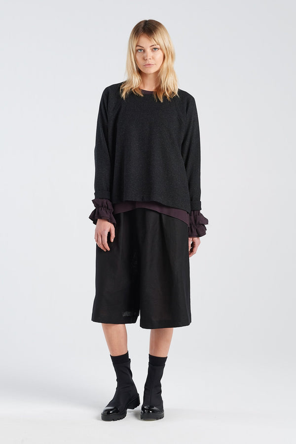 MIRROR JERSEY | BLACK LUREX - NYNE - NZ Made Women's Clothing