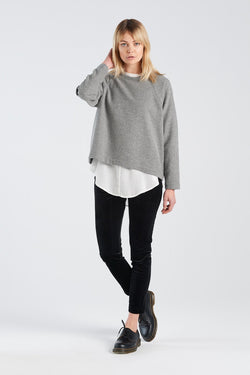 MIRROR JERSEY | GREY WOOL - NYNE - NZ Made Women's Clothing