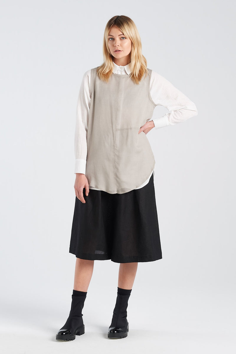 NOCTURNAL SHIRT | IVORY WAFFLE - NYNE - NZ Made Women's Clothing