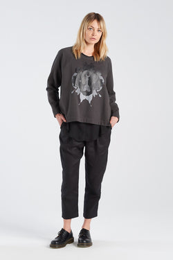 PERCEPTION JERSEY | CHARCOAL - NYNE - NZ Made Women's Clothing