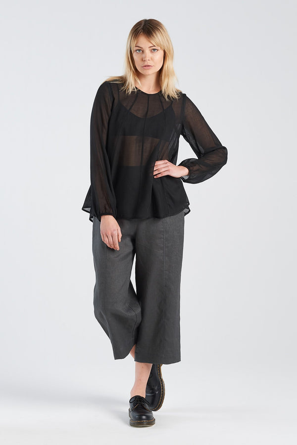 REFLECT TOP | BLACK WAFFLE - NYNE - NZ Made Women's Clothing