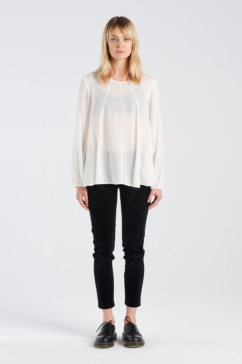 REFLECT TOP | IVORY WAFFLE - NYNE - NZ Made Women's Clothing