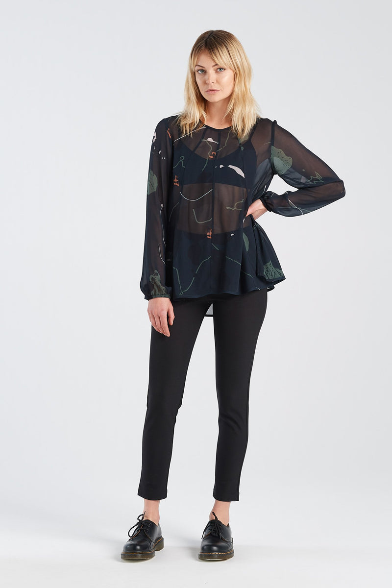 REFLECT TOP | RORSCH CHIFFON - NYNE - NZ Made Women's Clothing