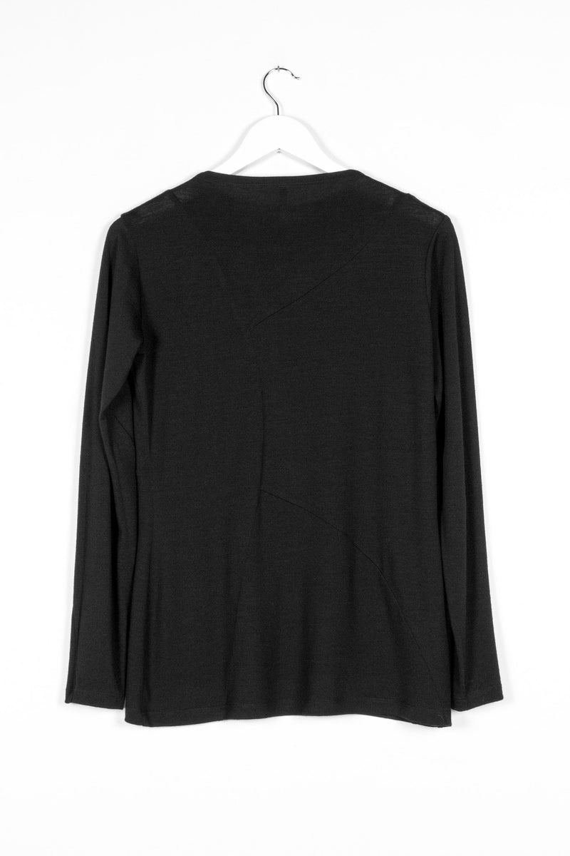 REPLICATE TOP | BLACK MERINO - NYNE - NZ Made Women's Clothing