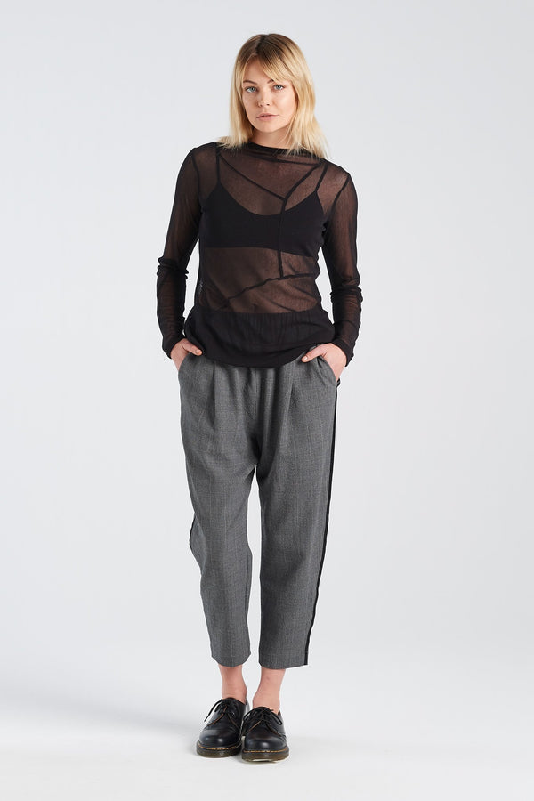 REPLICATE TOP | BLACK MESH - NYNE - NZ Made Women's Clothing