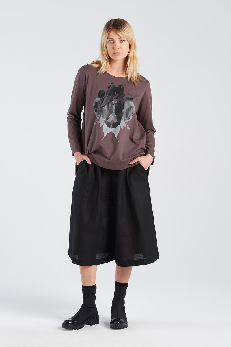 SIGN LONGSLEEVE HERMANN | BARK KNIT - NYNE - NZ Made Women's Clothing