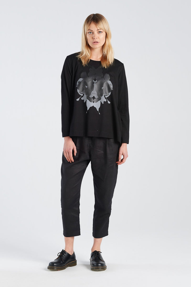 SIGN LONGSLEEVE HERMANN | BLACK KNIT - NYNE - NZ Made Women's Clothing
