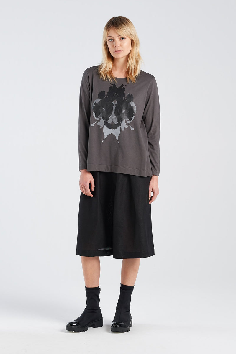 SIGN LONGSLEEVE HERMANN | CHARCOAL KNIT - NYNE - NZ Made Women's Clothing