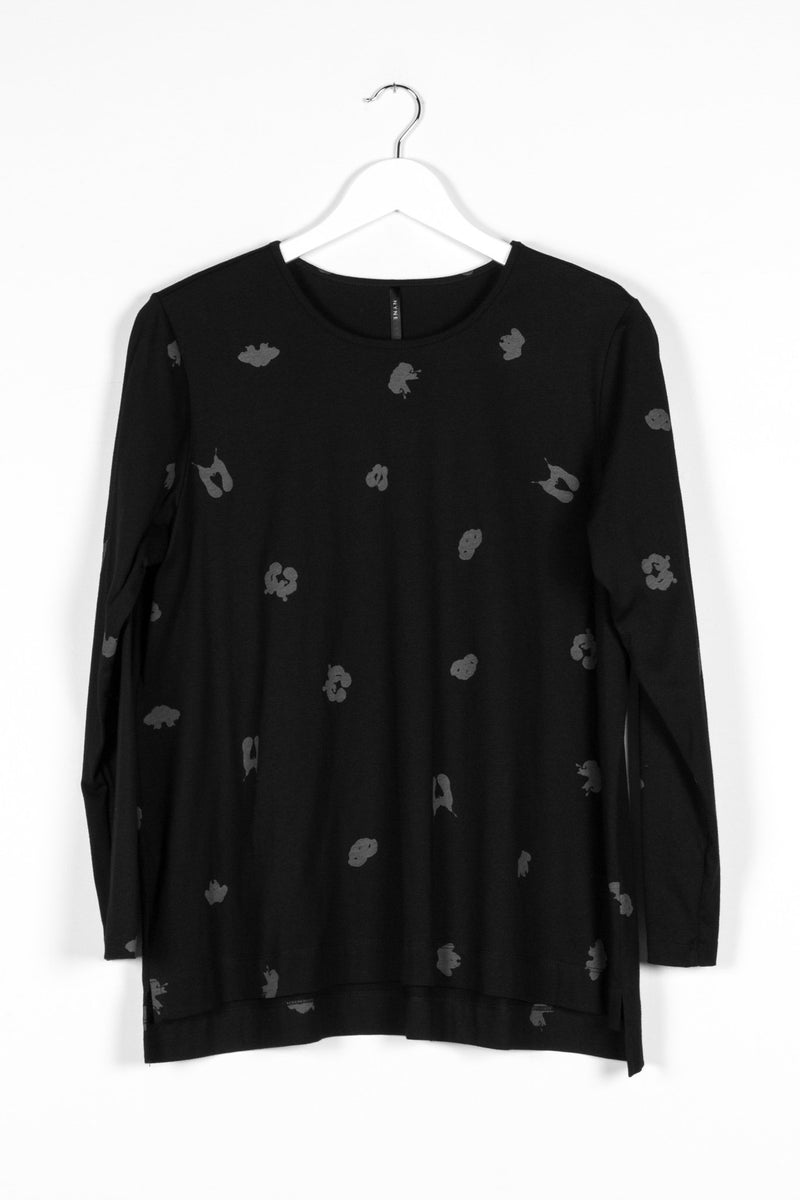 SIGN LONGSLEEVE SPOT | BLACK KNIT - NYNE - NZ Made Women's Clothing