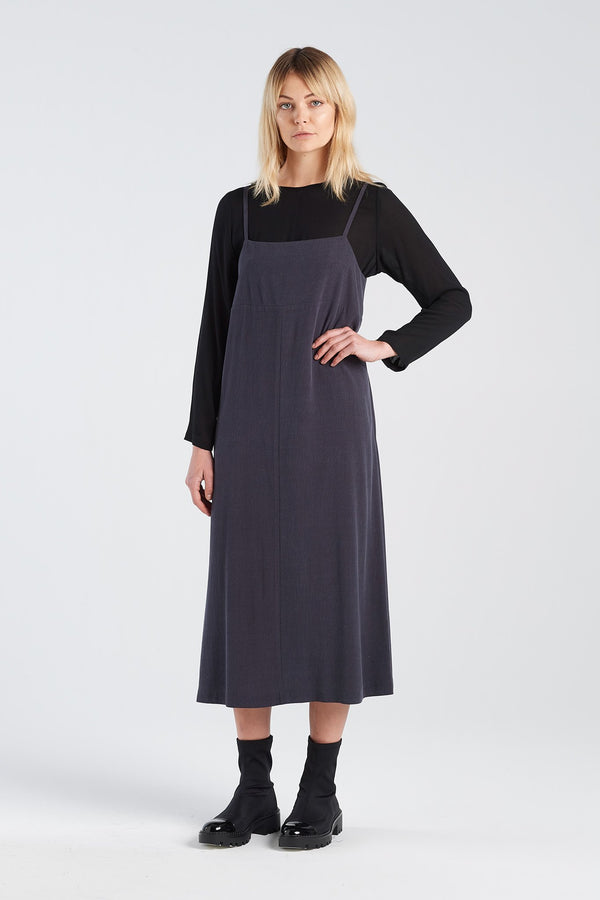 SOCIAL DRESS | CHARCOAL TENCEL - NYNE - NZ Made Women's Clothing