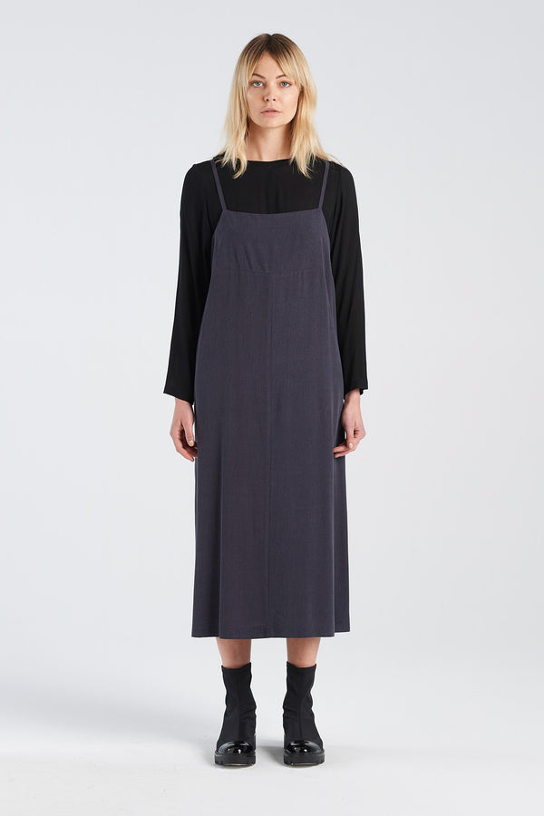 SOCIAL DRESS | CHARCOAL TENCEL