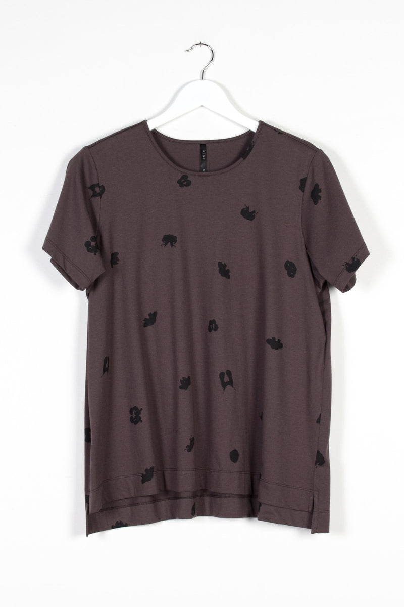 SPOT T-SHIRT | BARK KNIT - NYNE - NZ Made Women's Clothing