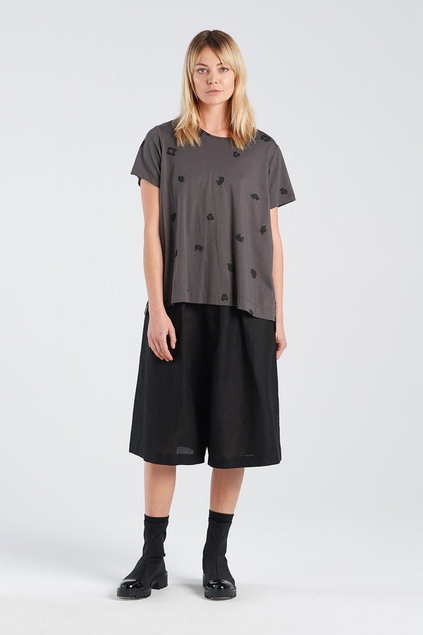 SPOT T-SHIRT | CHARCOAL KNIT - NYNE - NZ Made Women's Clothing