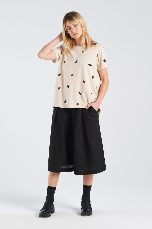 SPOT T-SHIRT | SAND KNIT - NYNE - NZ Made Women's Clothing