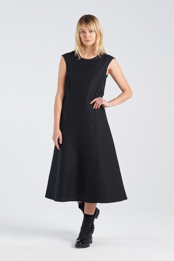 STATEMENT DRESS | BLACK GAUZE