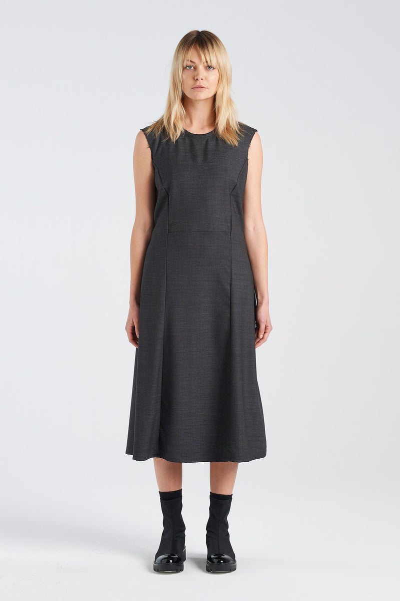 STATEMENT DRESS | CHARCOAL - NYNE - NZ Made Women's Clothing