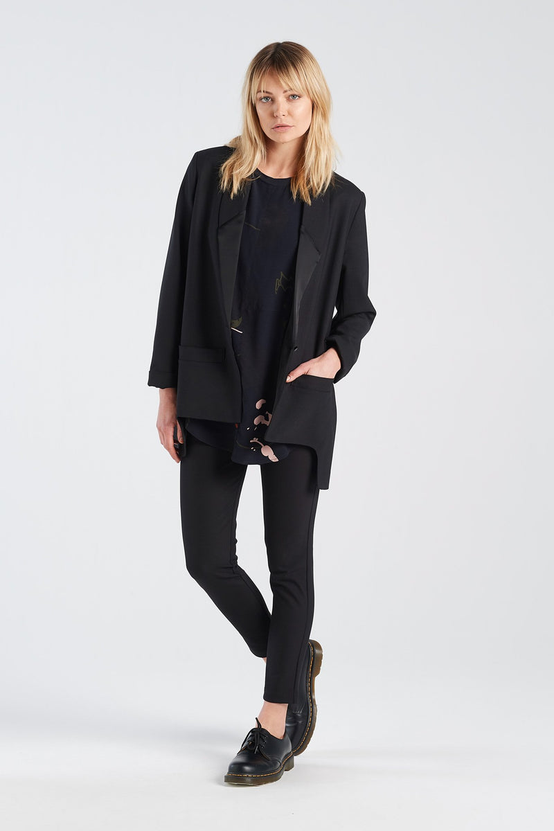 SWISS BLAZER | BLACK - NYNE - NZ Made Women's Clothing
