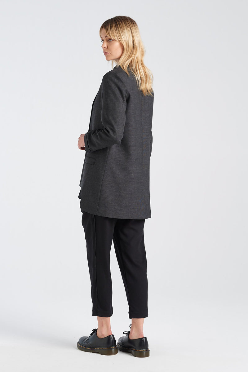 SWISS BLAZER | CHARCOAL - NYNE - NZ Made Women's Clothing