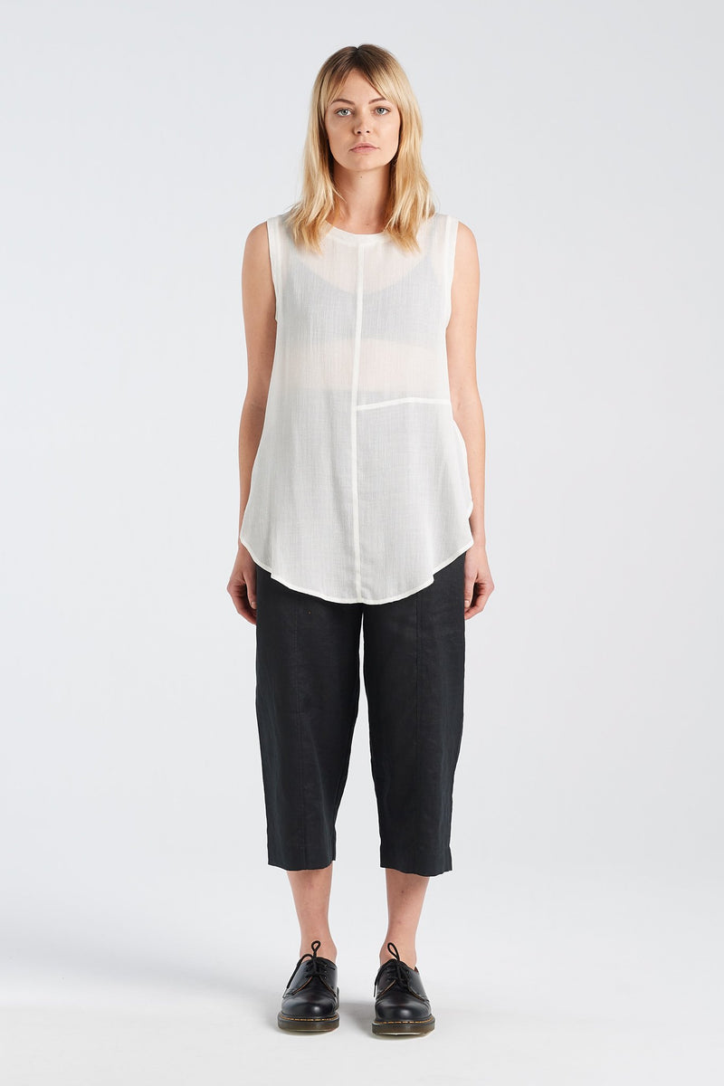 TEST PANT | BLACK LINEN - NYNE - NZ Made Women's Clothing