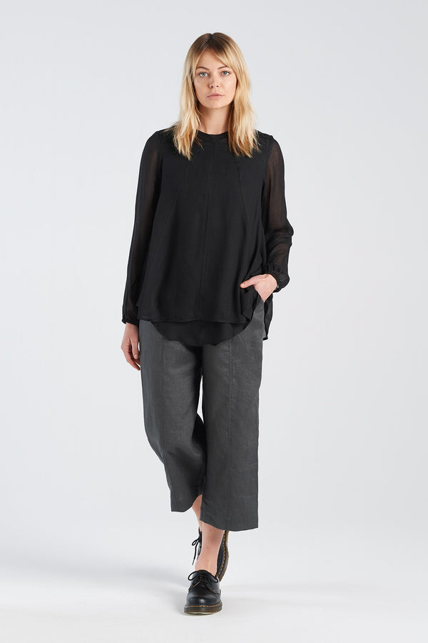TEST PANT | CHARCOAL LINEN - NYNE - NZ Made Women's Clothing