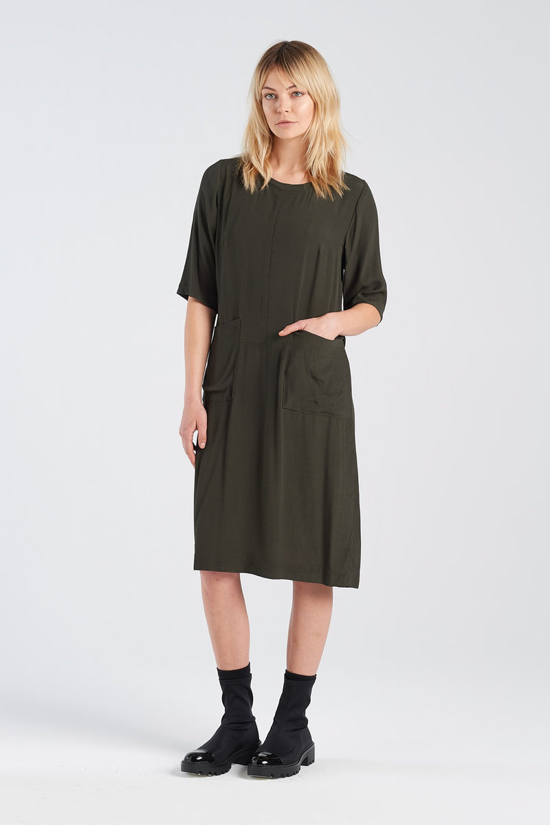 THERAPY DRESS | MOSS - NYNE - NZ Made Women's Clothing