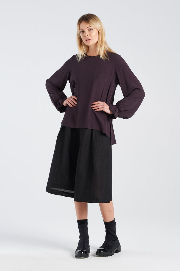 WADIN TOP | BLACKBERRY - NYNE - NZ Made Women's Clothing