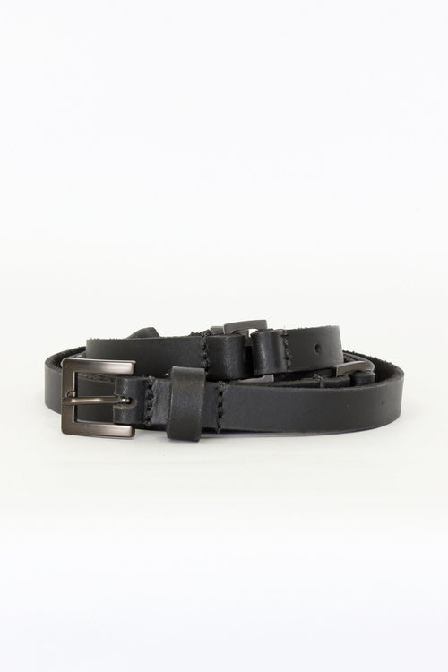 DOUBLE WRAP BELT | BLACK - NYNE - NZ Made Women's Clothing