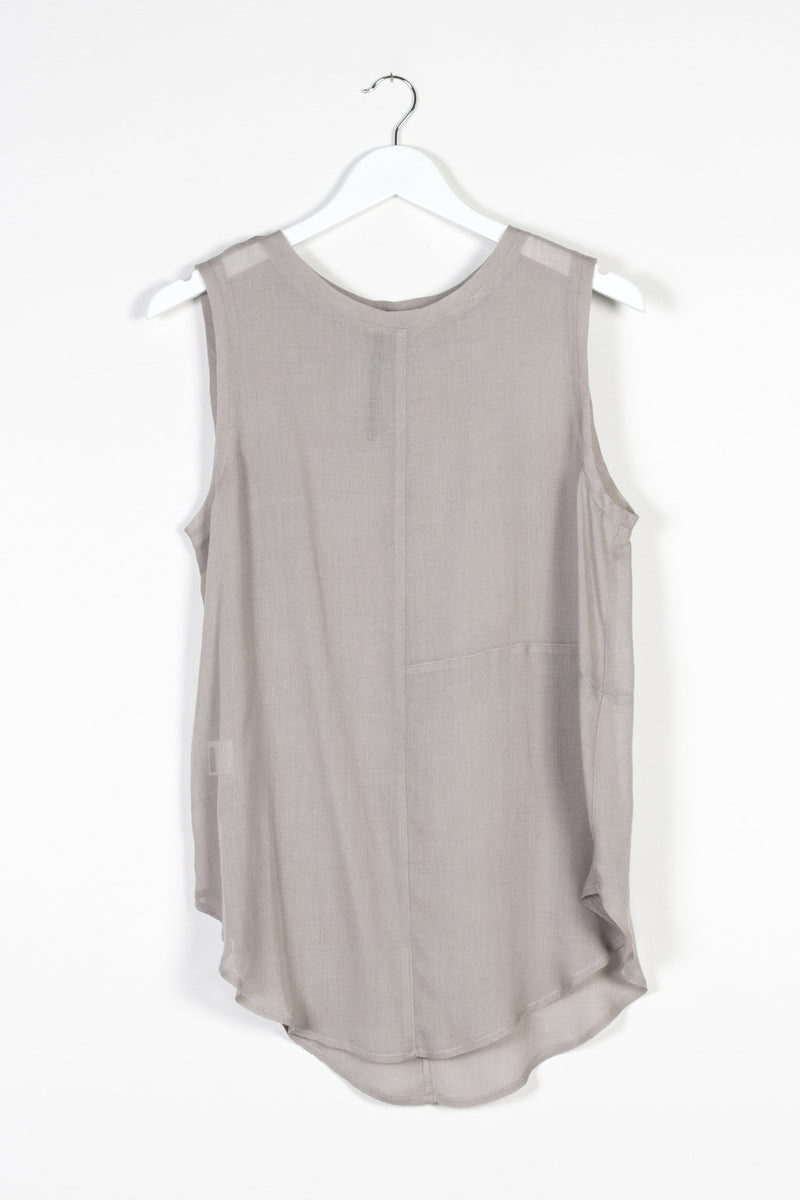 ZURICH SINGLET | ASH GAUZE - NYNE - NZ Made Women's Clothing