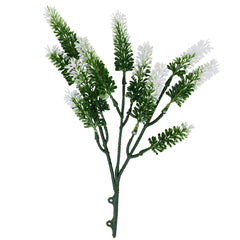 Artificial Small White Lavender UV Resistant 26cm