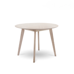 Round Dining Table Solid hardwood White Wash