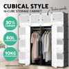 Image of 16 Cube Portable Storage Cabinet Wardrobe - Black & White