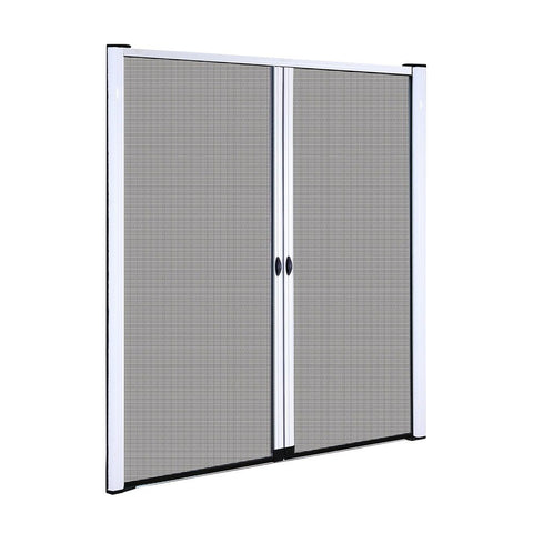 Instahut Retractable Magnetic Fly Screen Flyscreen Door Mesh Sliding 1.8m x 2.1m White