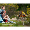 Image of Grillz Portable Fire Pit BBQ Outdoor Camping Wood Burner Fireplace Heater Pits