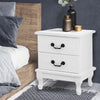 Image of McW Artiz Bedside Table Storage Lamp Side Nightstand Unit Cabinet Bedroom White