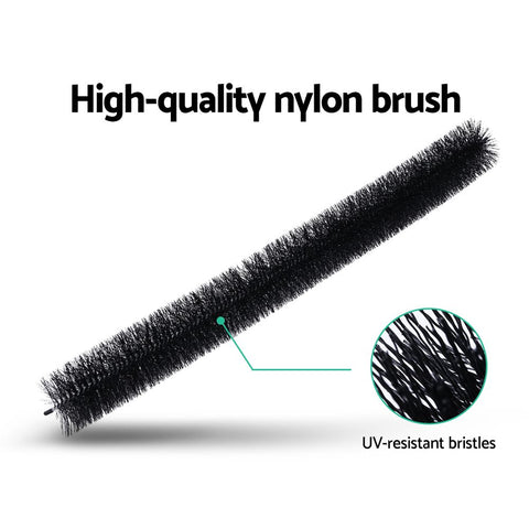 24 Pcs Gutter Brush Guard 100mm X 22m Length Leaf Twigs Filter Home Garden