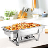 Image of Emajin 9L Bain Marie Bow Chafing Dish Set Stainless Steel Food Buffet Warmer