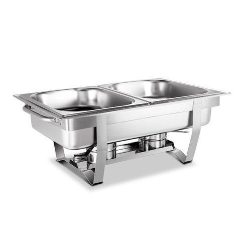 Emajin 9L Bain Marie Chafing Dish 4.5Lx2 Stainless Steel Buffet Food Stackable