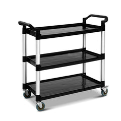 Emajin Service Cart Trolley Restaurant Kitchen Serving Catering Large Shelf