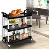 Image of Emajin Service Cart Restaurant Trolley Kitchen Serving Catering Large Shelf