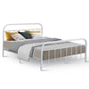 Image of Artiss Queen Size Metal Bed Frame - White