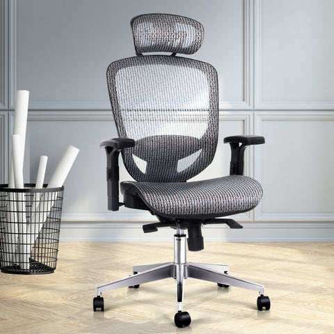 McW Artiz Office Chair Gaming Chair Computer Chairs Mesh Net Seating Grey