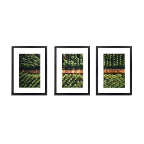 3 PCS Photo Frame Wall Set A3 Picture Home Decor Art Gift Present Black
