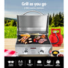 Image of Grillz Portable Gas BBQ LPG Oven Camping Cooker Grill 2 Burners Stove Outdoor