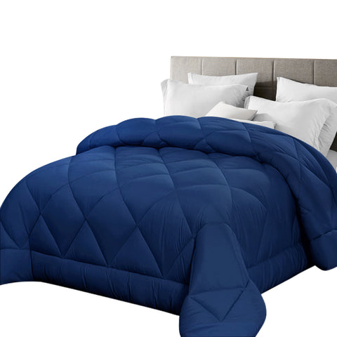 Giselle Bamboo Microfibre Microfiber Quilt Queen 400GSM Duvet All Season Blue