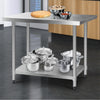 Image of Cefito 1219 x 762mm Commercial Stainless Steel Kitchen Bench