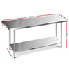 Image of Cefito 1829 x 762mm Commercial Stainless Steel Kitchen Bench