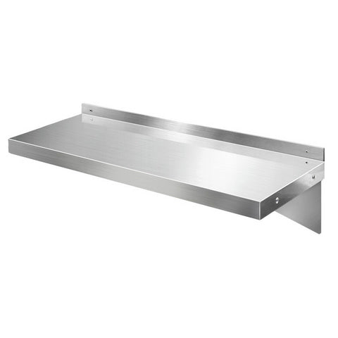 Stainless Steel Wall Shelf Kitchen Shelves Rack Mounted Display Shelving 600mm