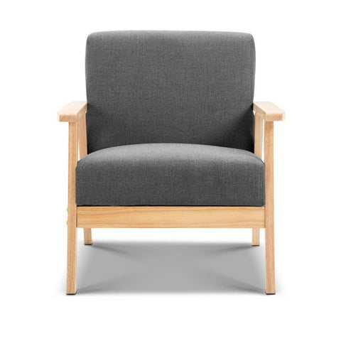 McW Artiz Fabric Armchair - Grey
