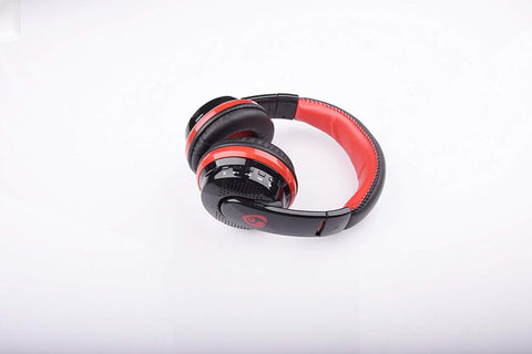 OVLENG MX666 Wireless Bluetooth Music Headphones with Mic Noise Canceling - Red