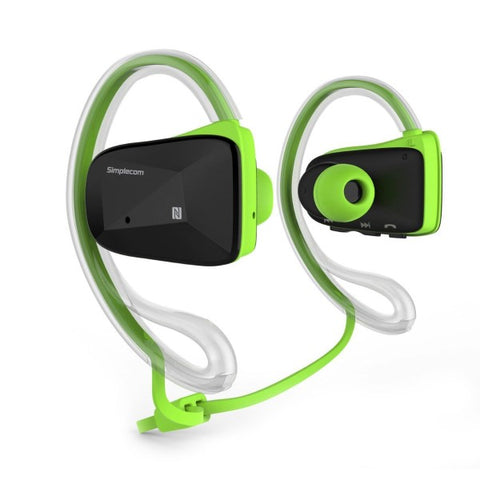 Simplecom NS200 Bluetooth Neckband Sports Headphones with NFC Green